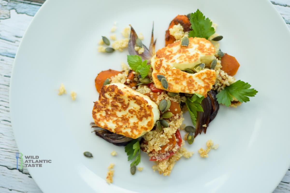 quinoa and halloumi salad
