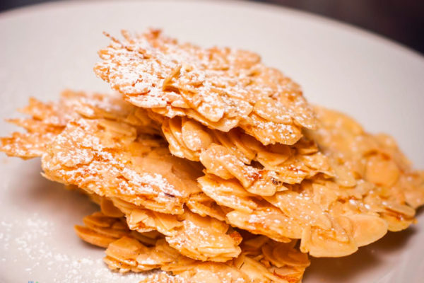 Almond and orange florentines