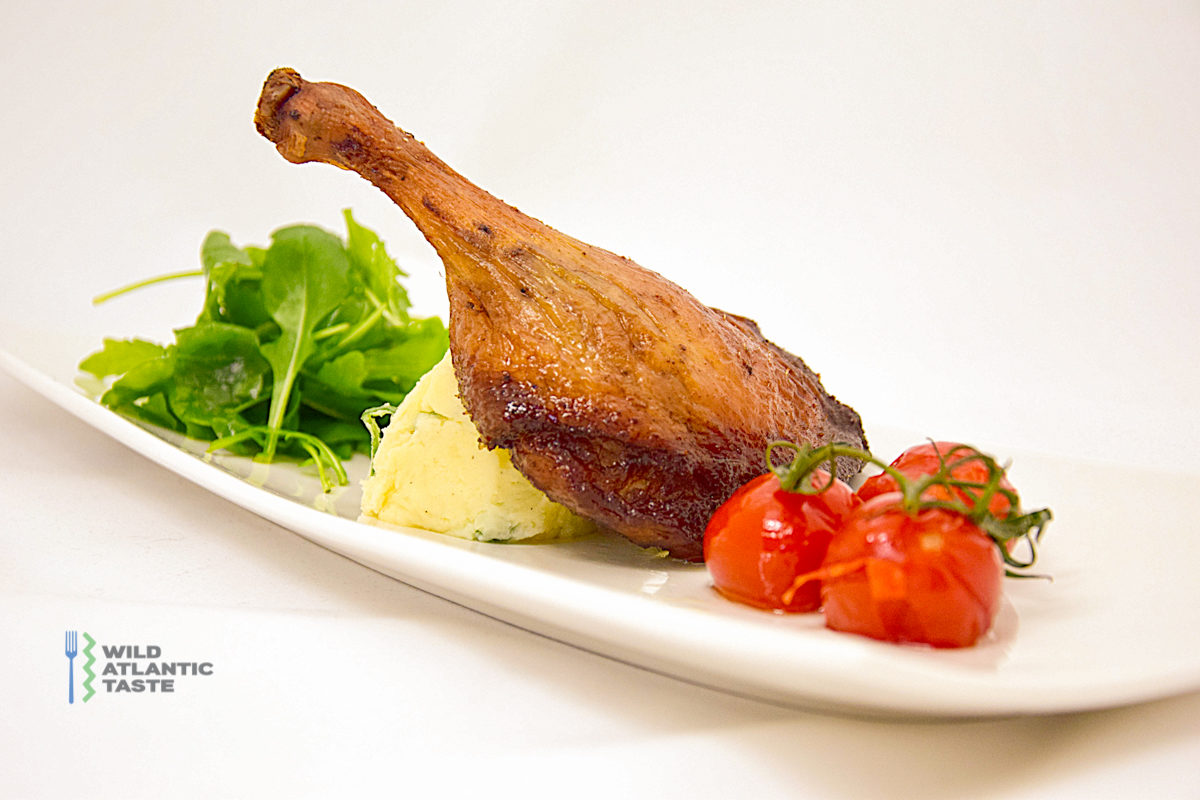 Confit of duck with champ mash