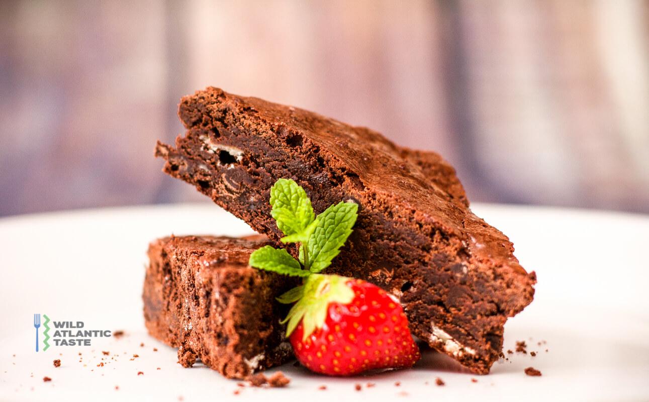 Double chocolate brownies