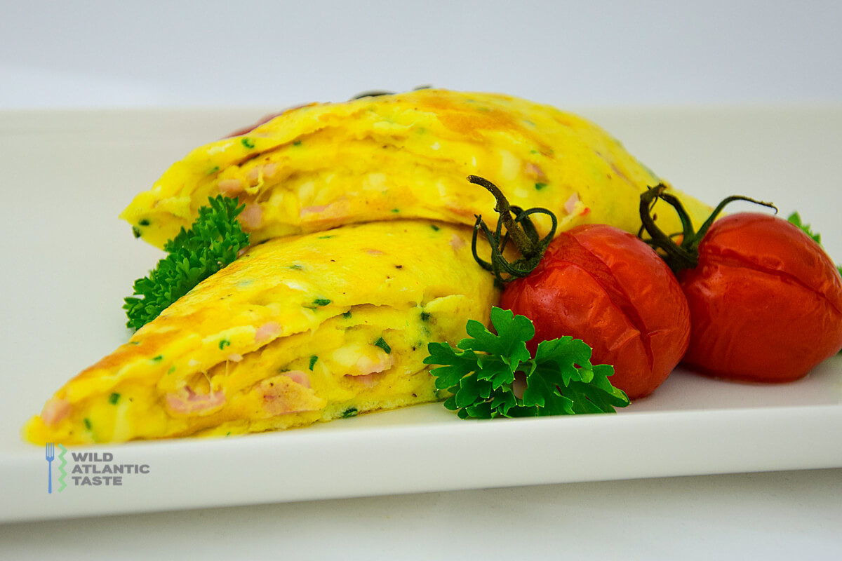 French Omelette With Ham And Cheese Wild Atlantic Taste
