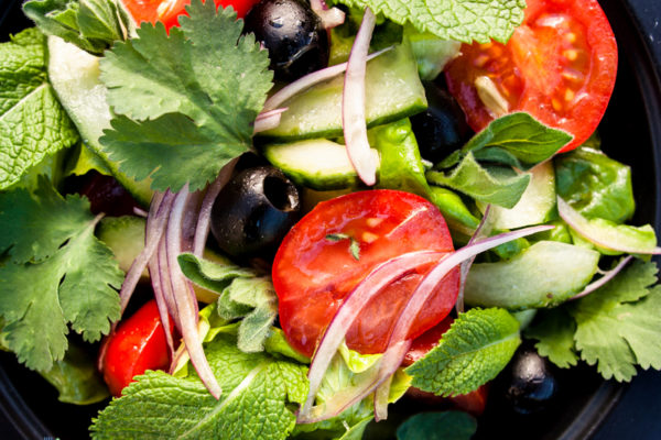 Greek style herb salad