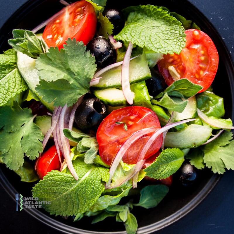 Greek style herb salad