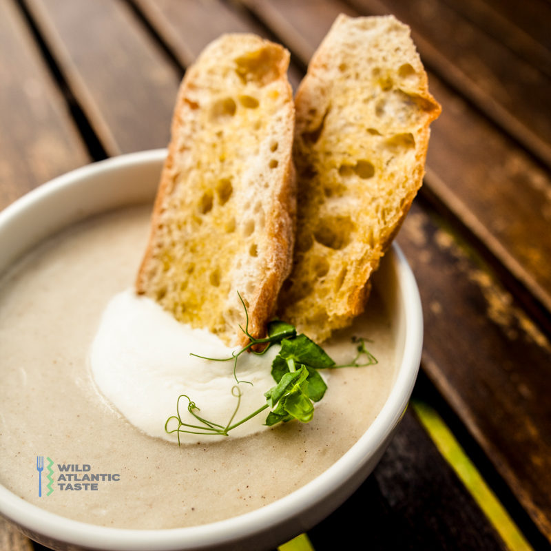 Parsnip and cumin soup