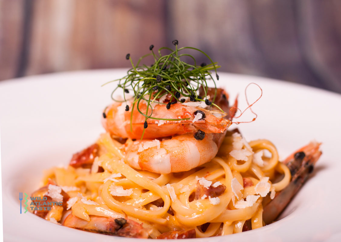 Prawn and chorizo linguine