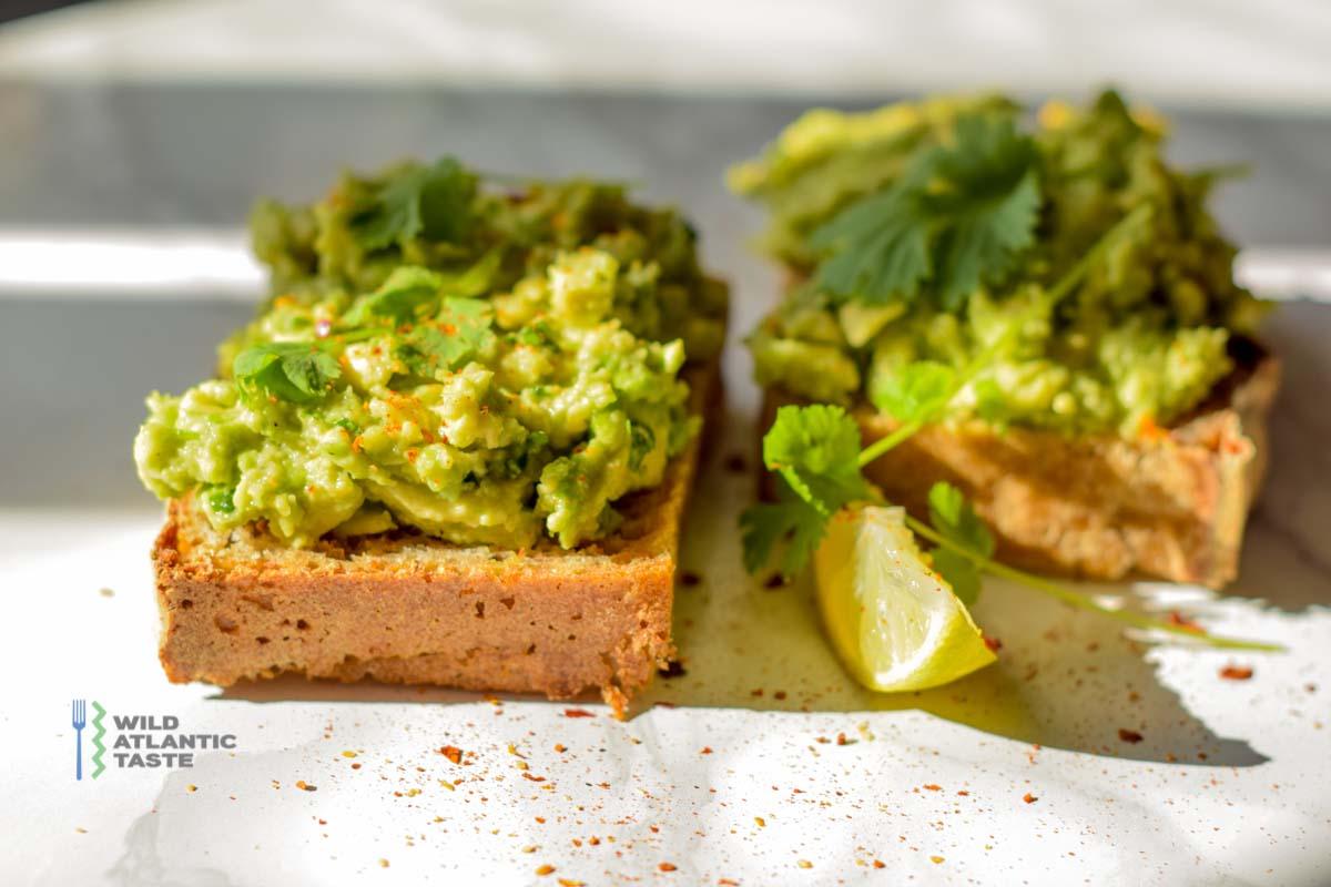 Smash avocado on toast