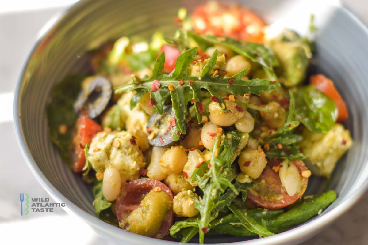 Butter Bean, Chickpea and Avocado Salad