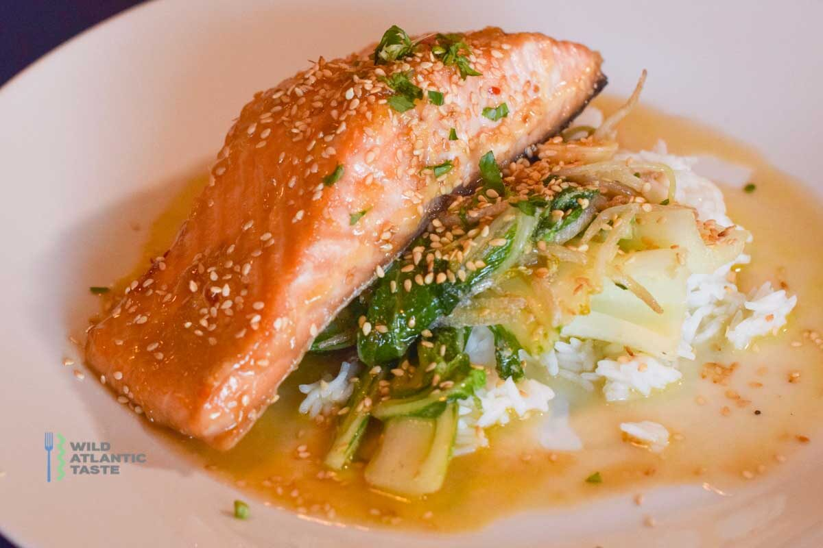 Teriyaki Salmon with Rice